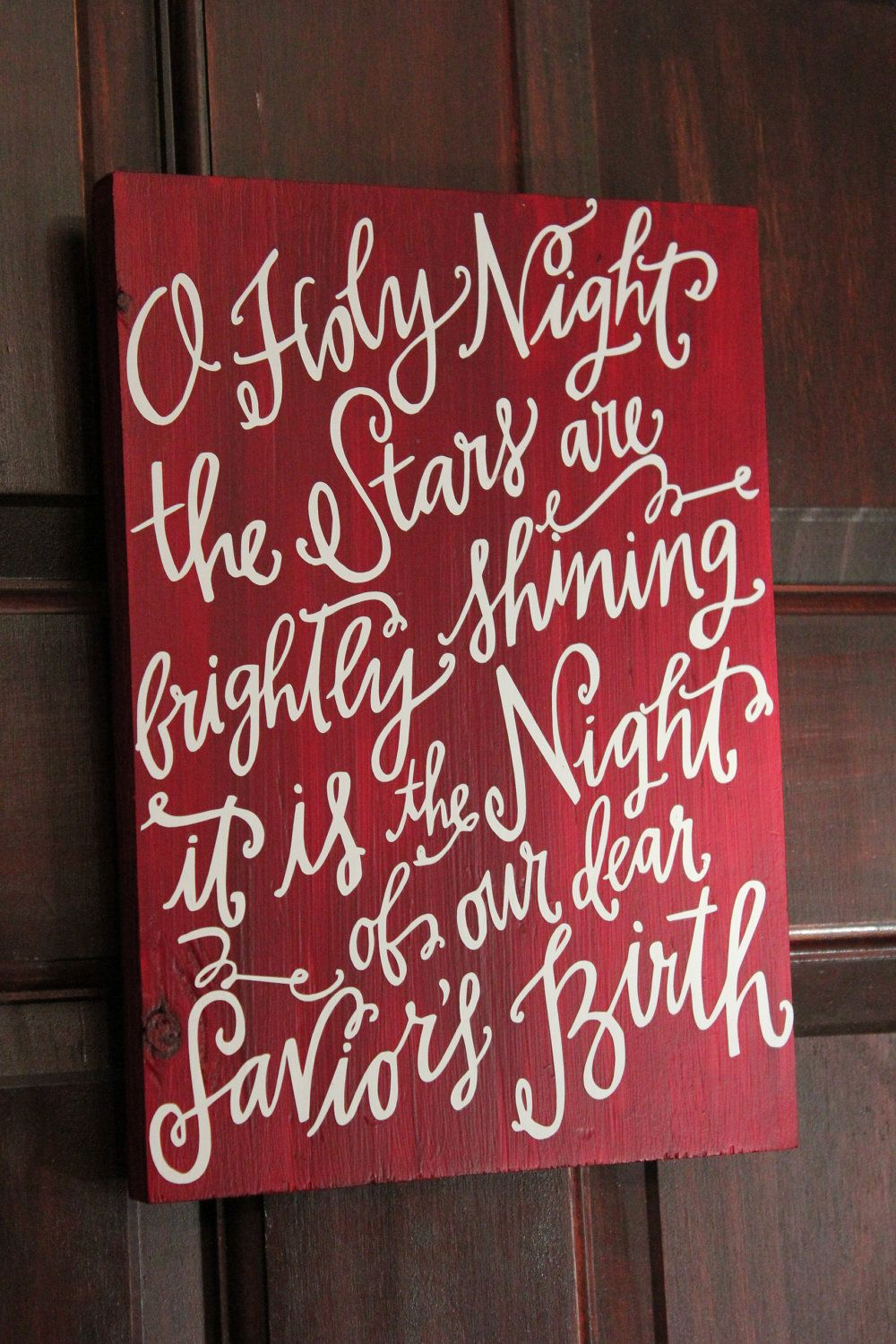 O holy night typography via etsy christmas for O holy night decorations