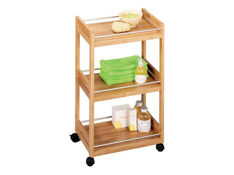 Zeller Bad-Rollwagen Bamboo Metall 45,7x38x76 cm 1 | Bathroom ...