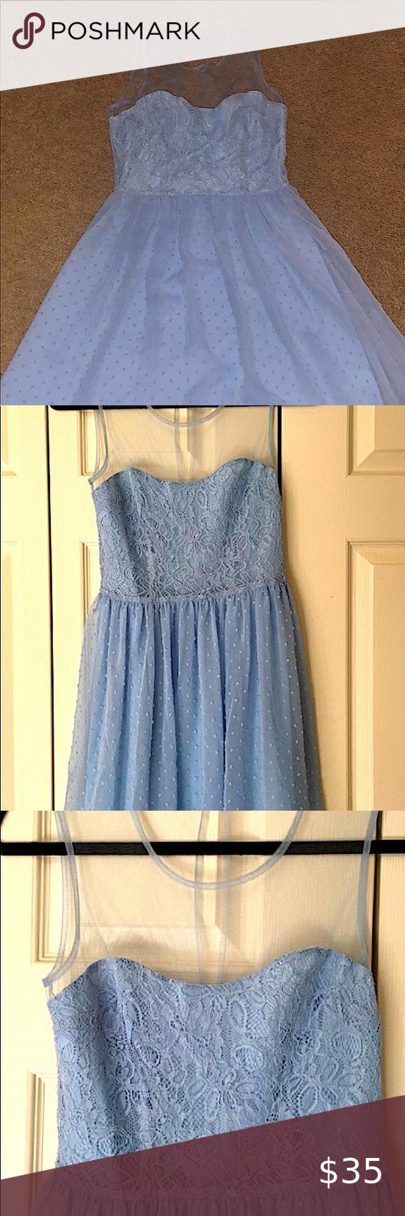 Rodarte For Target Blue Swiss Dot Dress Size 5 Junior Cocktail Dresses Swiss Dot Dress Downtown Dress [ 1740 x 580 Pixel ]