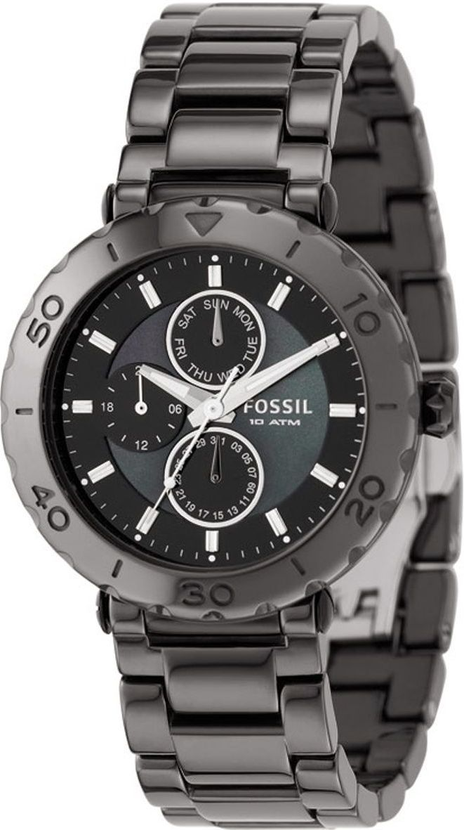 Fossil Watch , Fossil Women's CE1001 Black Ceramic Bracelet Black Analog Dial Multifunction Watch, Disclosure: Affiliate Link...$179.99