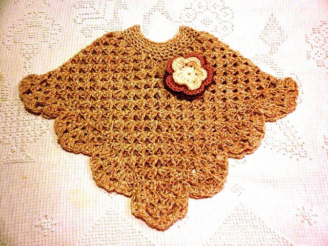 Martha Stewart Coming Home Poncho: Kid's (crochet)