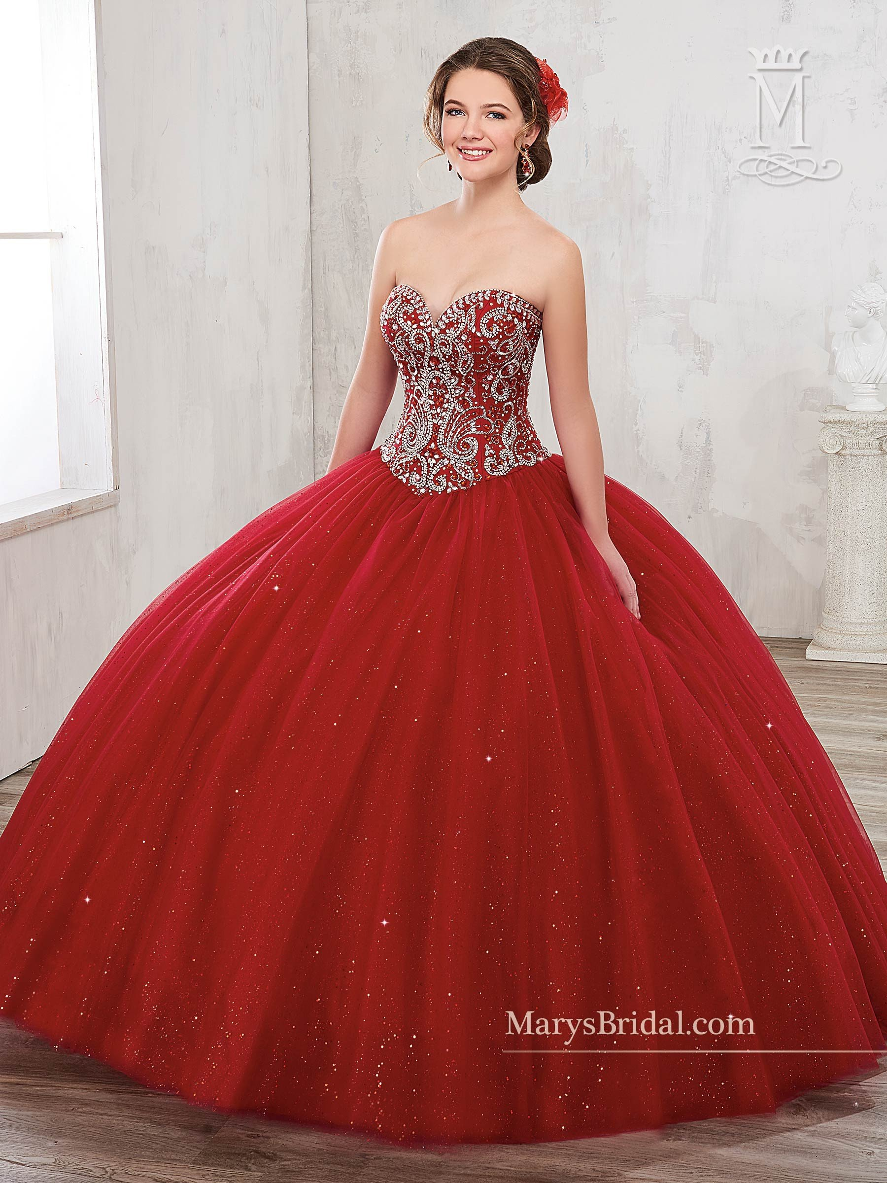 Beaded Strapless Quinceanera Dress By Mary S Bridal Beloving 4801 Pretty Quinceanera Dresses Quincenera Dresses Quince Dresses [ 2400 x 1800 Pixel ]