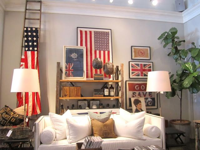 Decorating With Vintage Flags Classic Casual Home Decor Flag Decor Home Decor