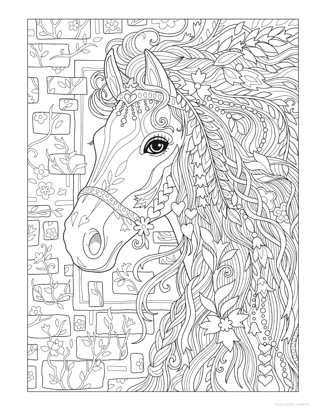 Creative Haven Dream Horses Coloring Book Horse Coloring Pages Horse Coloring Books Animal Coloring Pages [ 1317 x 1000 Pixel ]