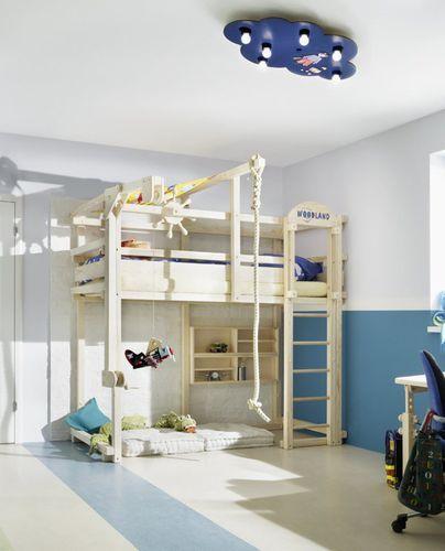 Cama simple   alta   moderna   infantil (unisex) WINNIPEG WOODLAND