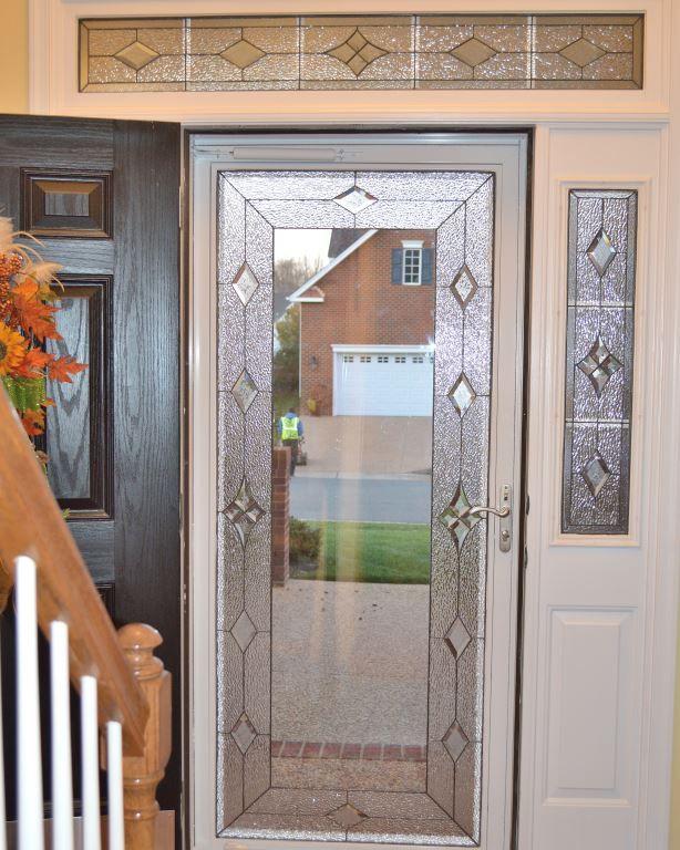 Carr Storm Door Design Stainedglass Door Custom Made Beautiful