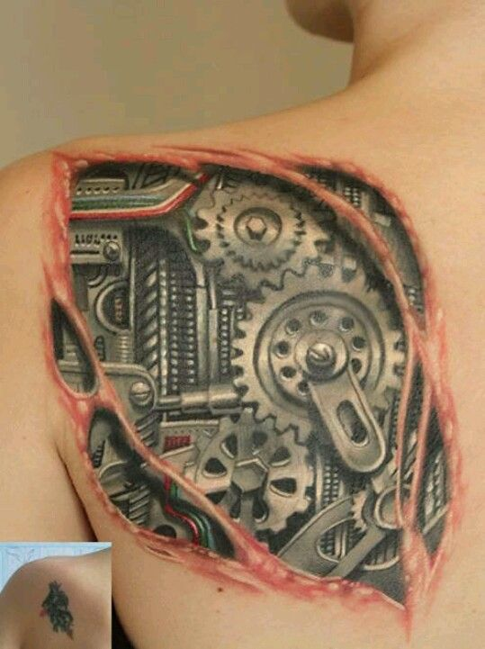 Pin By Vetta Brunson On Random Love Biomechanical Tattoo Mechanic