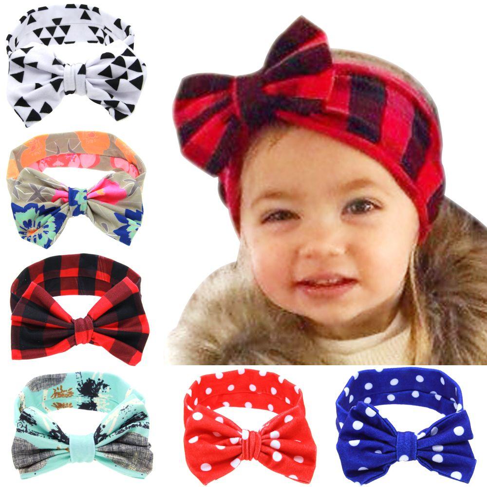 1pc Best Deal 2016 Lovely Baby Hair Bands Headband Fashion Bunny Ear Girl Headwear Bow Elastic Knot He Fashion Bunny Ears Baby Hair Bands Kids Hair Accessories