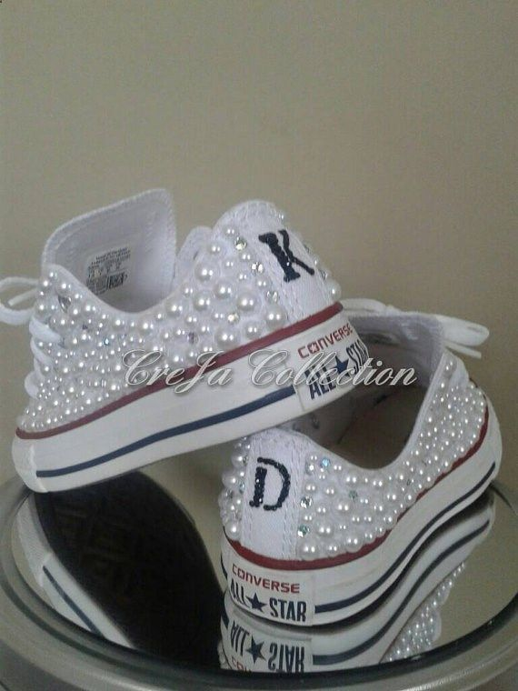 Converseshoes$29 on | Wedding converse, Bling converse and Custom ...