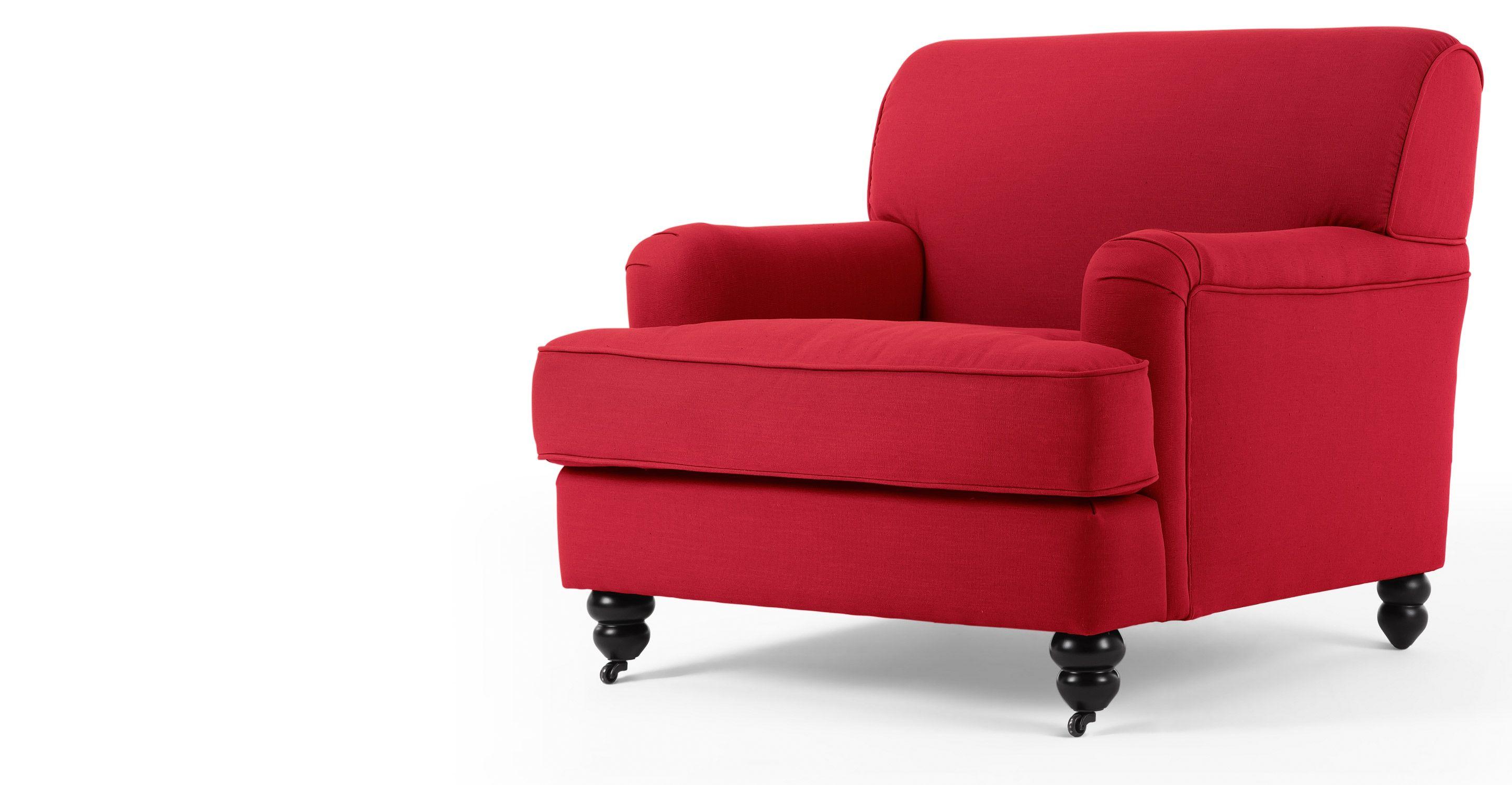 Orson Armchair, Tudor Red