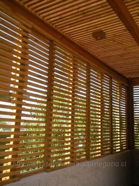 Cierres de madera separadores treillages cerramientos for Cierres de madera