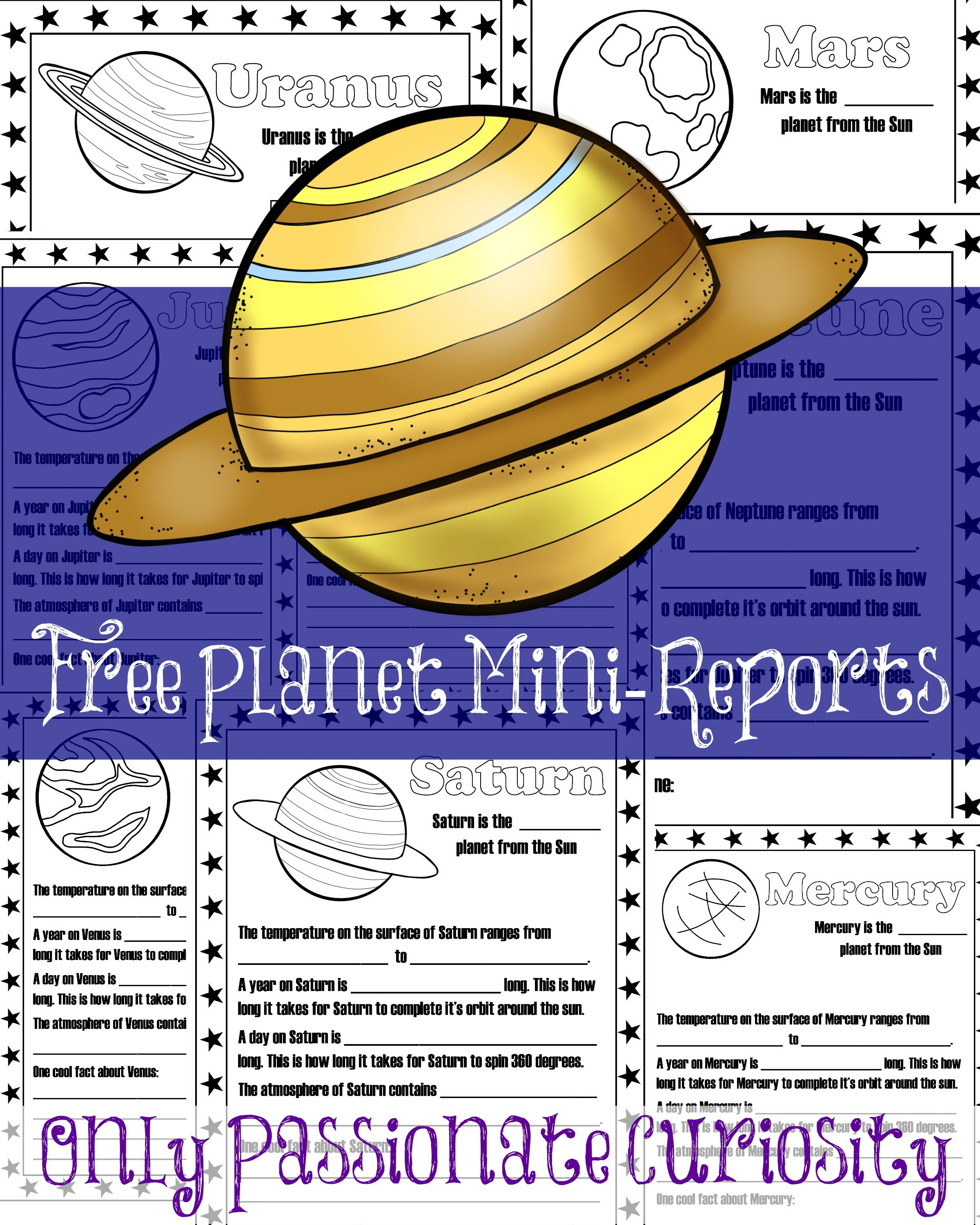 hight resolution of Planet Mini Reports   Solar system unit