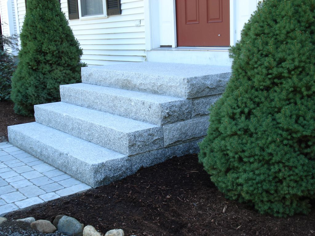 Connecticut Granite Steps, Concrete Steps, Landscape Steps U0026 Stairs Front  Porch Stairs, Outside