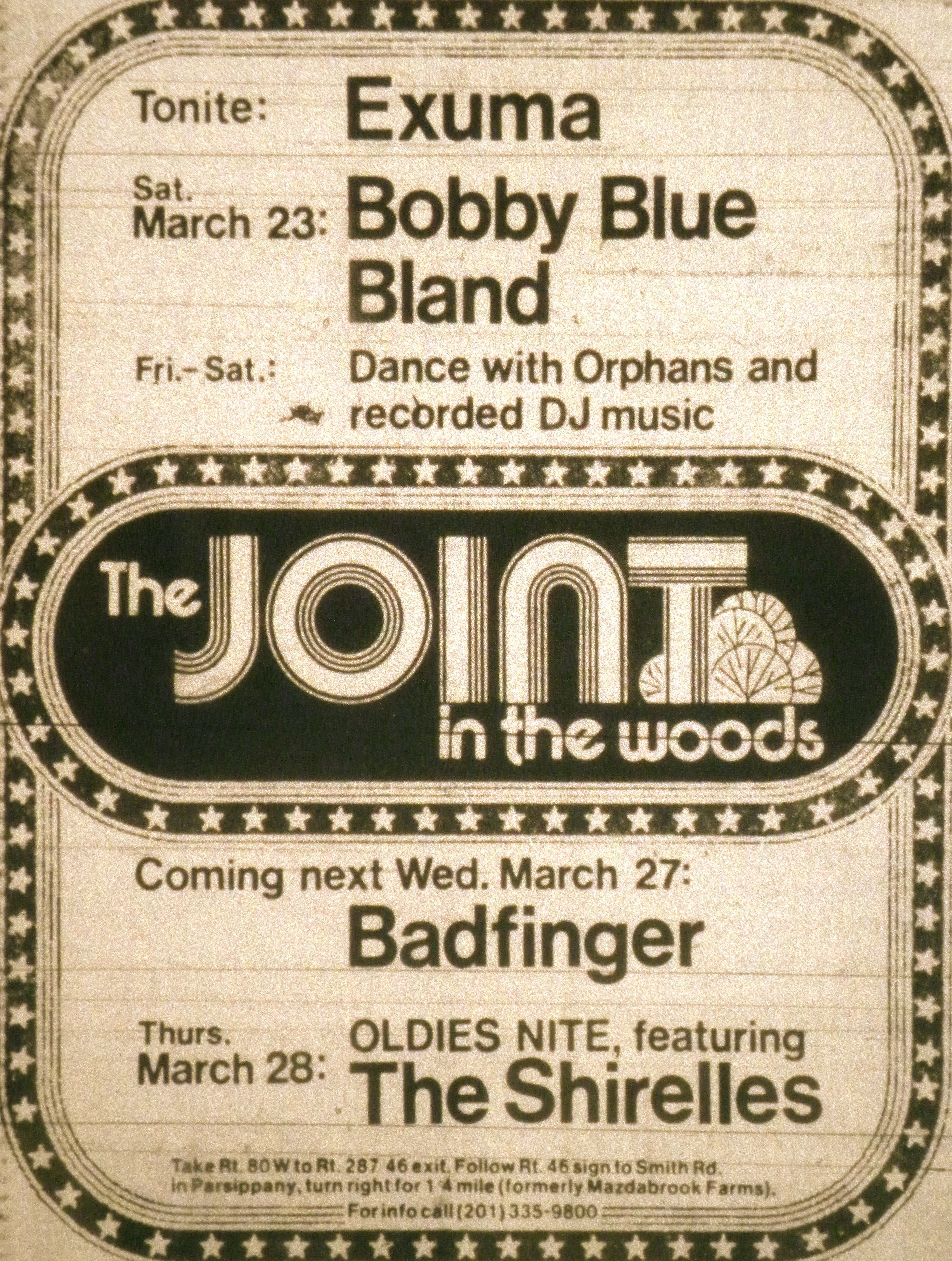 The Joint in the Woods Ad in Parsippany NJ 1974 (With