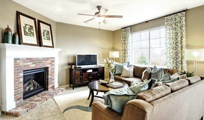 Living Room Ideas With Brick Fireplace And Tv ponderosa - living room | ponderosa floor plan | richmond american