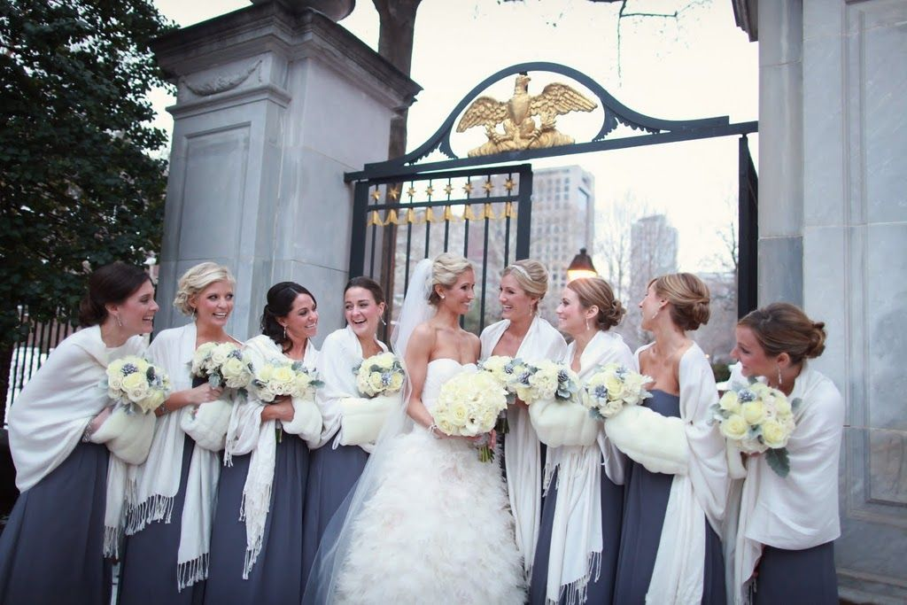 Bridesmaid S Pashminas Winter Wedding Another Good Gift