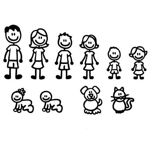 Idée Vinyl Caméo Recherche Google Idées Flex Pinterest - Family decal stickers for carscar truck van vehicle window family figures vinyl decal sticker