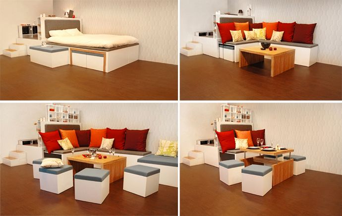 Amazing Compact Furniture Small Spaces