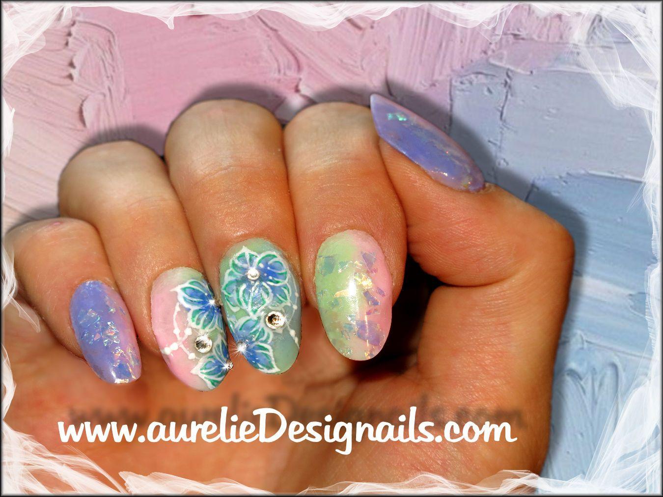 Faux Ongles En R Sine Multicolore D Co Gel Paint Ongles