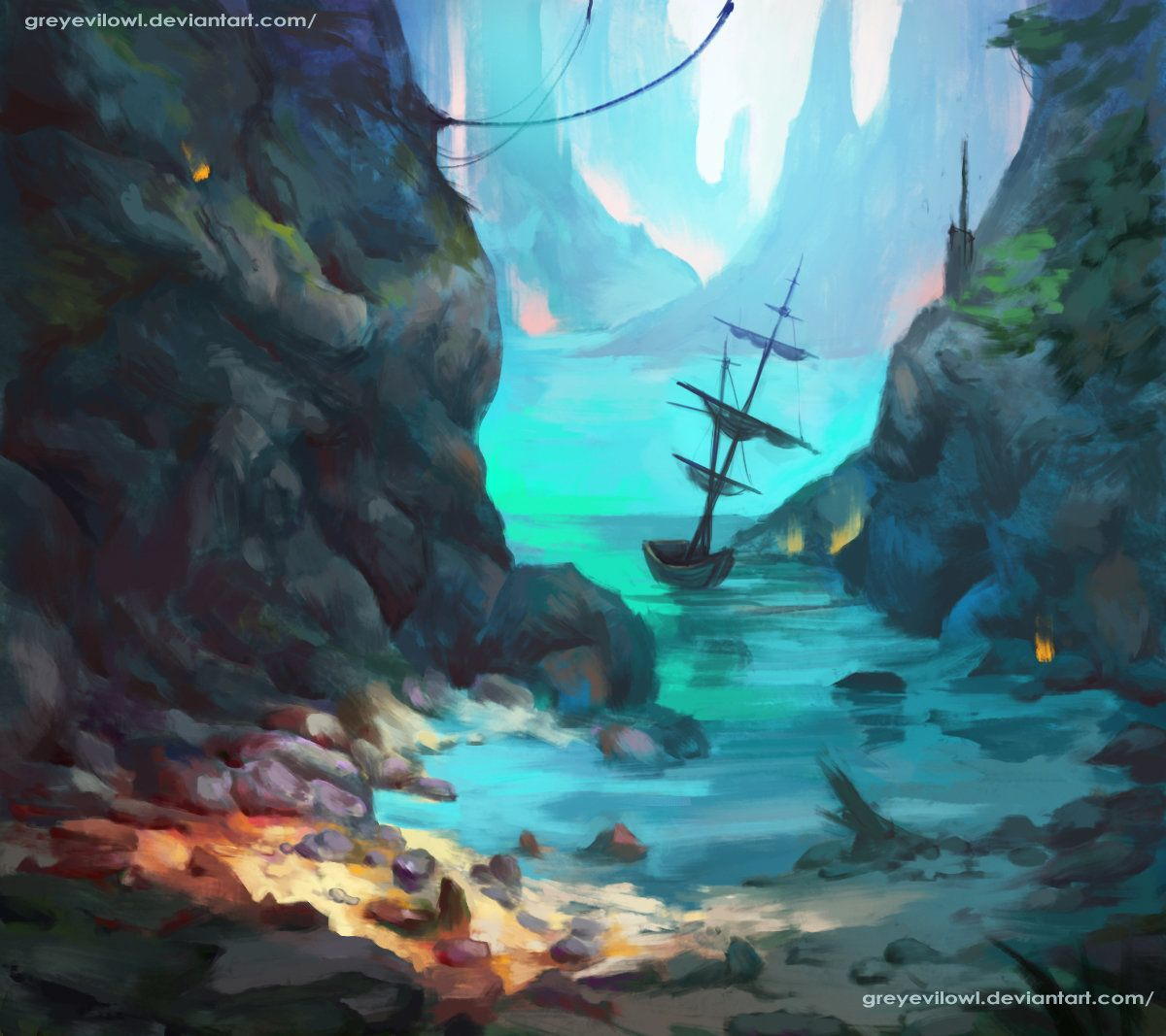Ship, Owl Grey Evil on ArtStation at https://www.artstation.com/artwork/kQdb2
