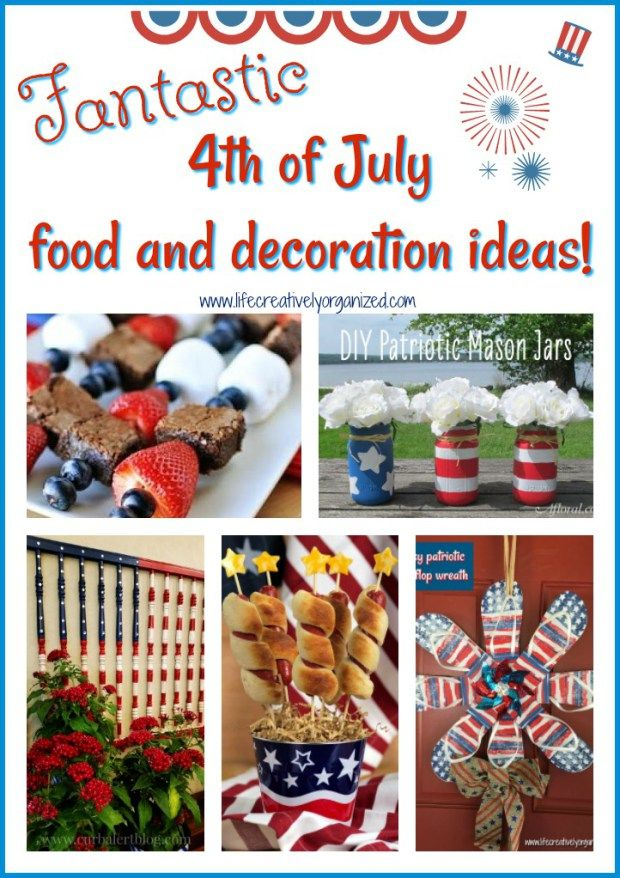 The 4th of July is the epitome of summer celebrating! Here's lots of fantastic 4th of July patriotic food & decoration ideas to celebrate Independence Day!