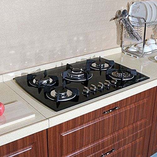 30 Tempered Glass Built In Kitchen 5 Burner Oven Gas Cooktops