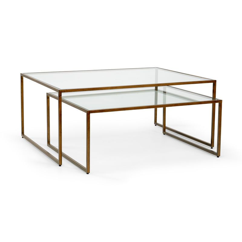 383186 Chelsea House Nesting Coffee Table Bronze Table Table