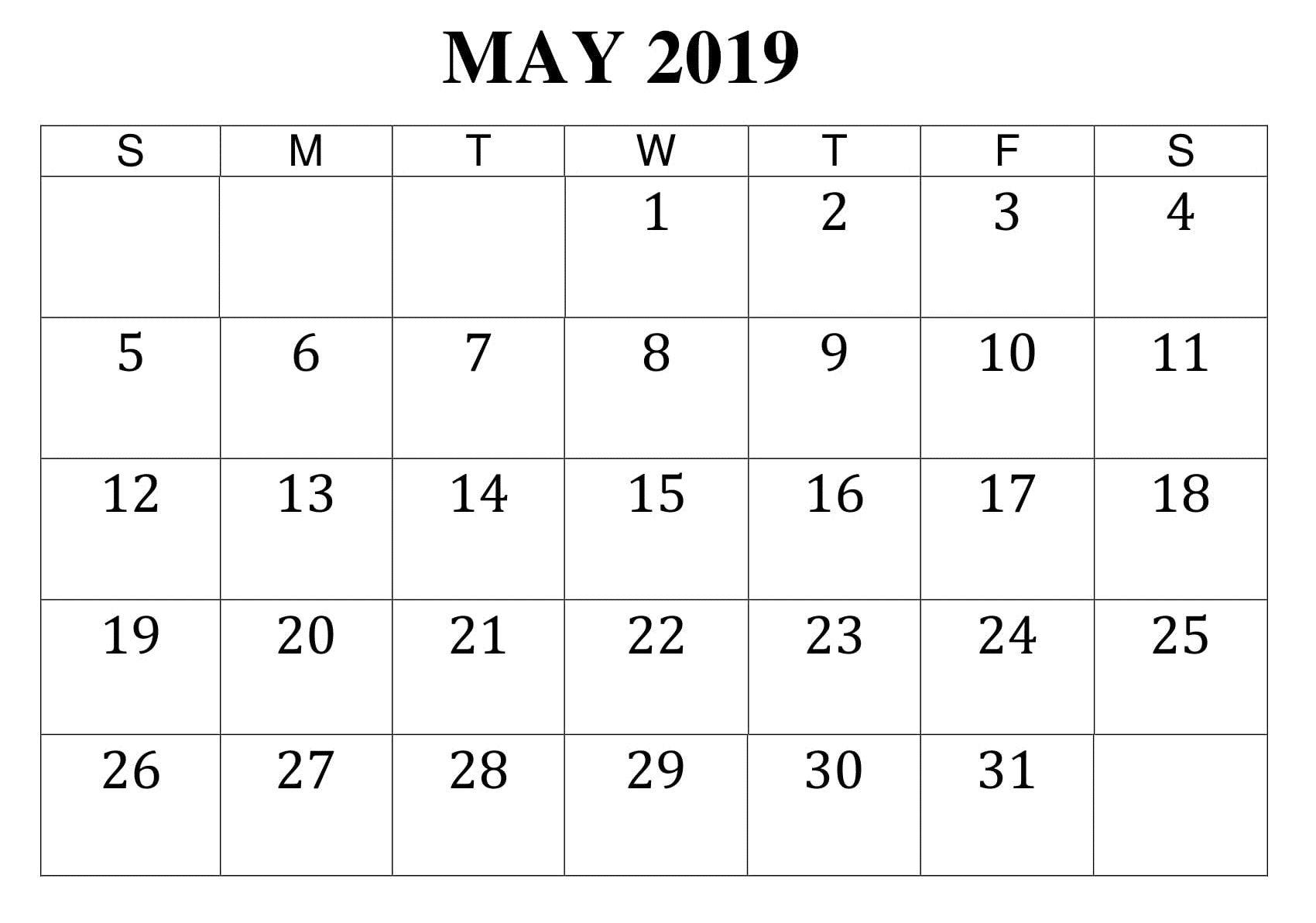 May Printable Worksheet Calendar