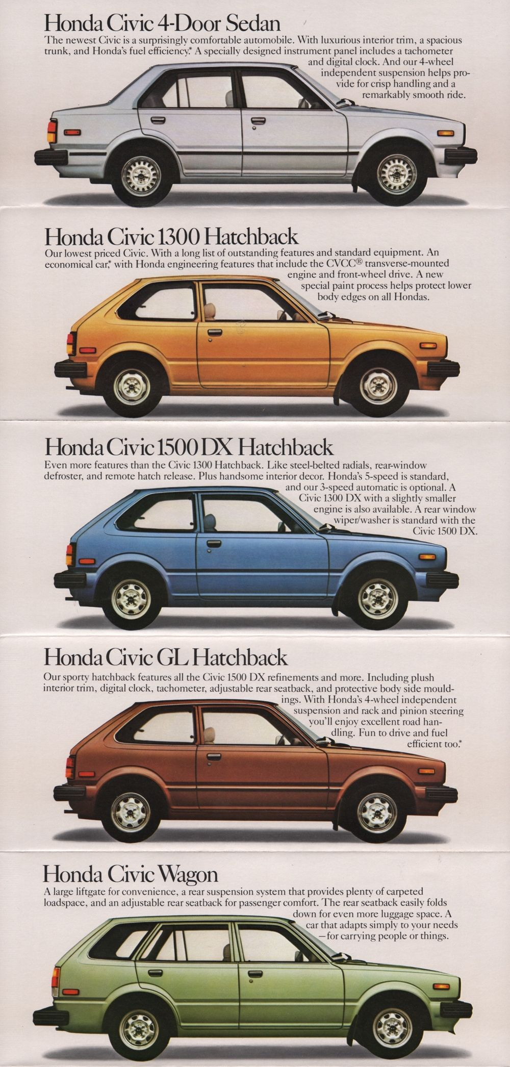 4 Door Civic Hatchback : civic, hatchback, Vintage, Japanese, Autos