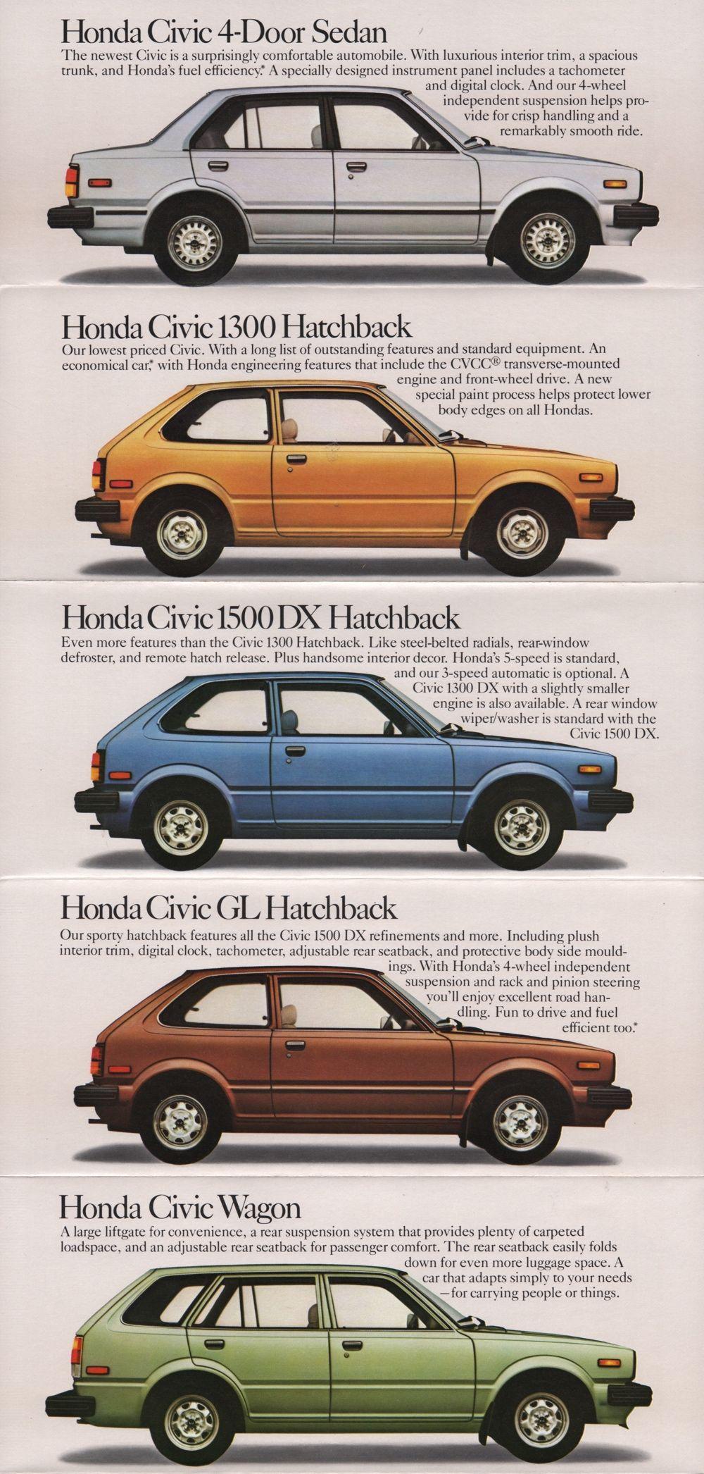 1981 Honda Sales Brochure Honda Sales Honda Civic Honda Civic Hatchback