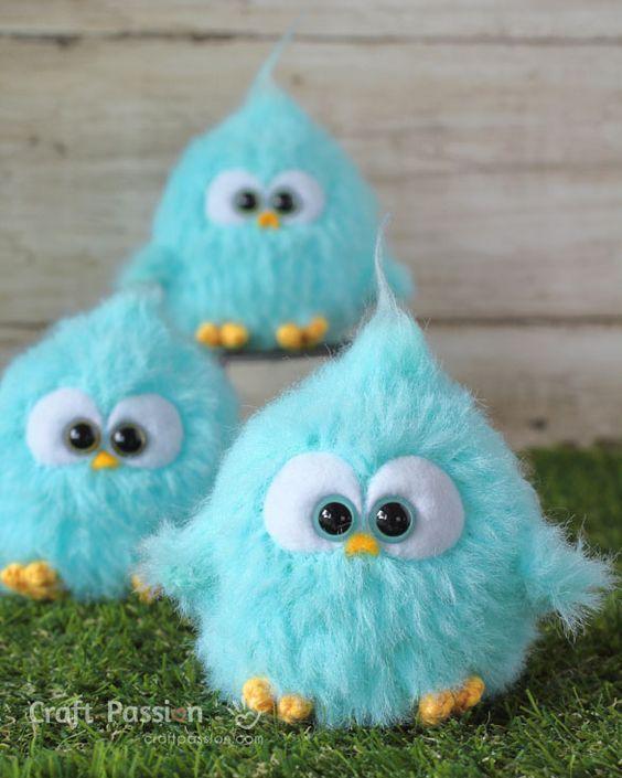 Seven Little Birds Amigurumi | Fat Face & Me | 705x564