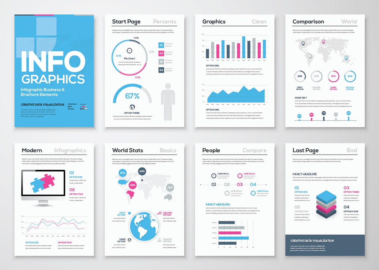 Free Infographic Brochure Template Free Infographic Brochure - Ai brochure template