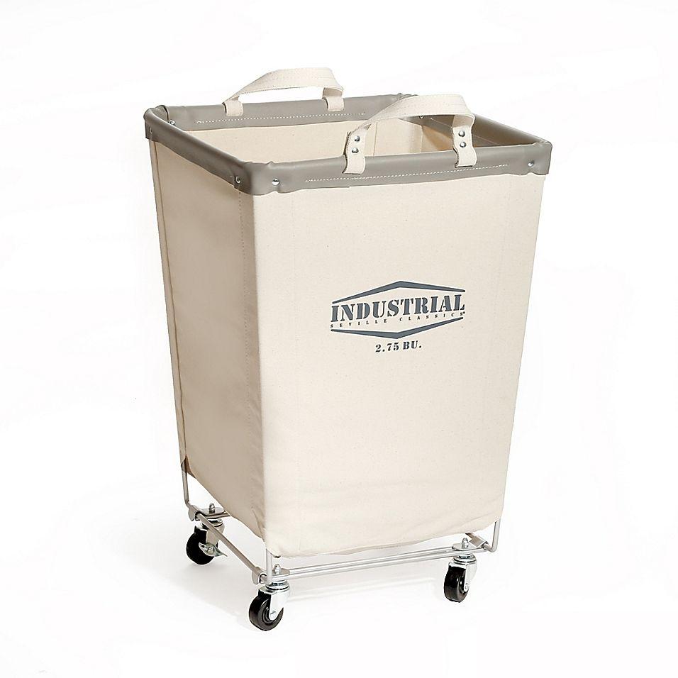 Seville Classics Commercial Canvas Laundry Hamper Cart Natural In