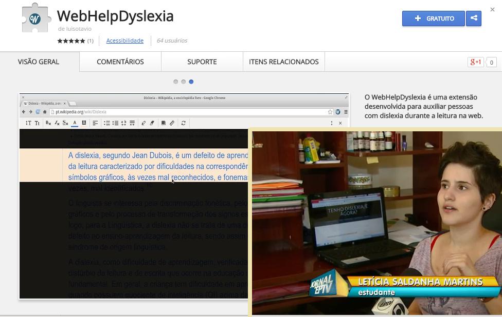 Aplicativo para disléxicos criado pela UFLA facilita a navegação na web e o blog apareceu no G1!