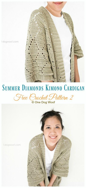 Women Kimono Cardigan Free Crochet Patterns -   16 knitting and crochet Patterns sweater coats ideas