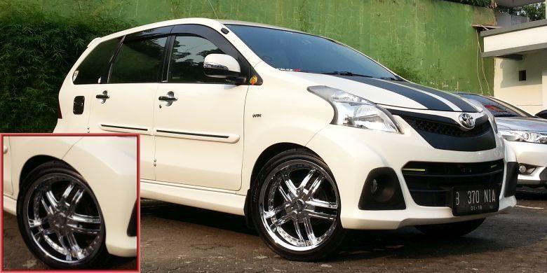Modifikasi Toyota Avanza Veloz Keluaran 2012 Dengan Pelek Yang Nyaman Toyota Mobil Kendaraan