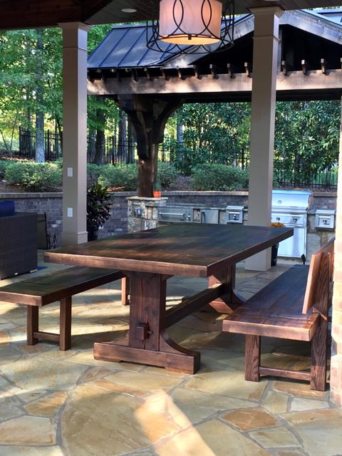 Emerson Outdoor Table Custom Rustic Farm Table Atlanta Denver - Picnic table atlanta