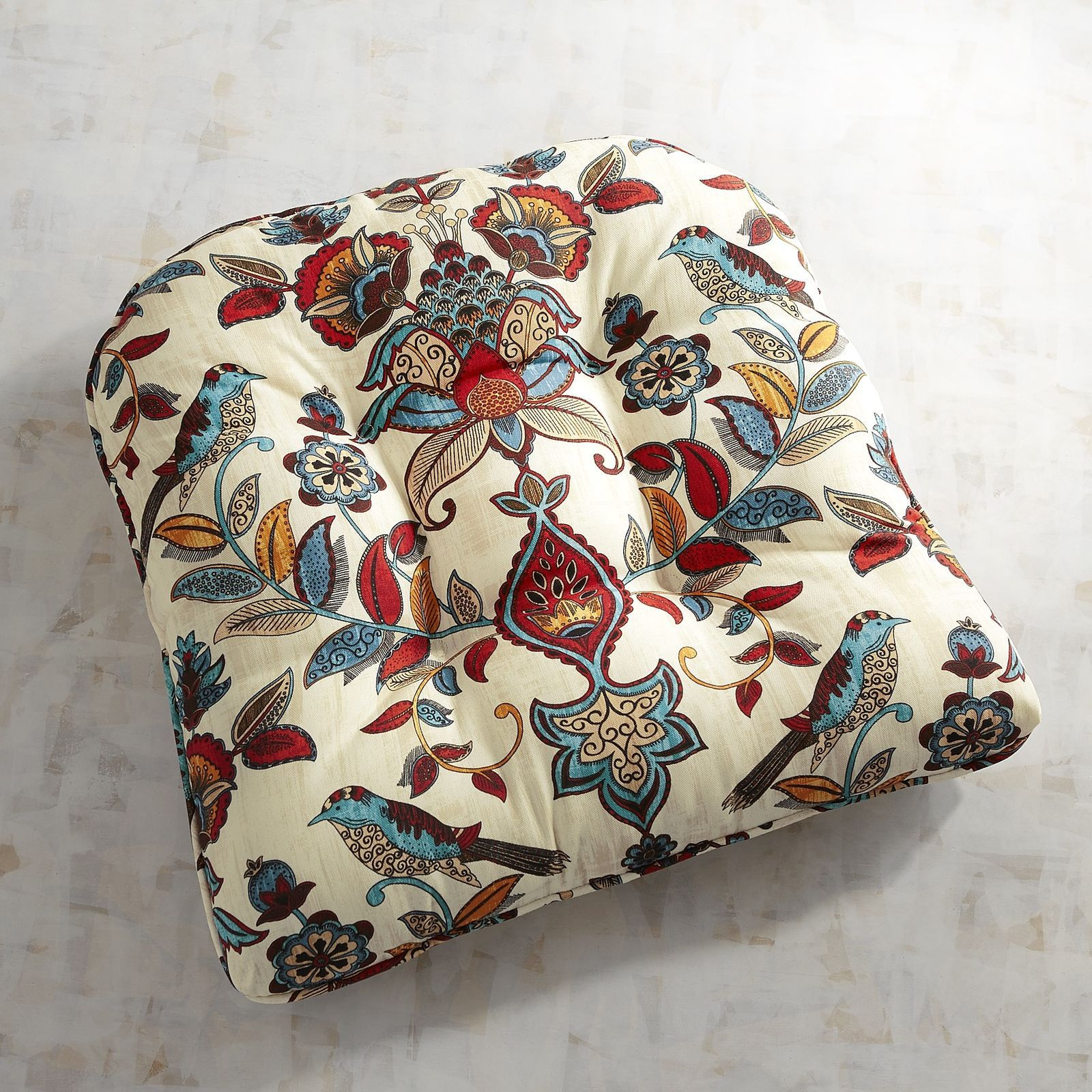 Tufted Standard Contour Chair Cushion in Marisela Indoor