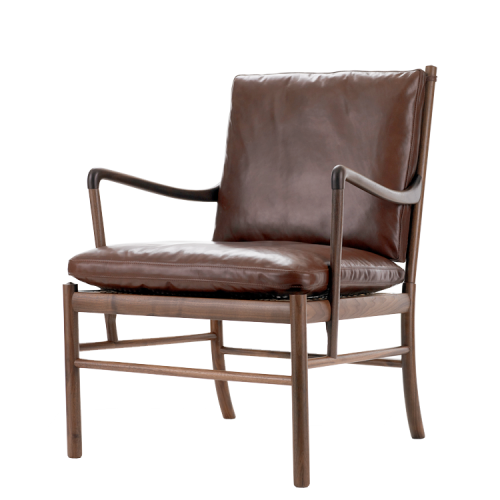 Ole Wanscher; ow149 Walnut, Leather and Cane Armchair by