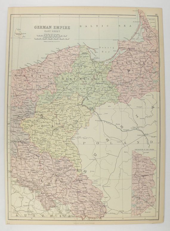 east germany map vintage map of germany east german empire 1884 a c black map germany history unique gift for teacher german decor art available from