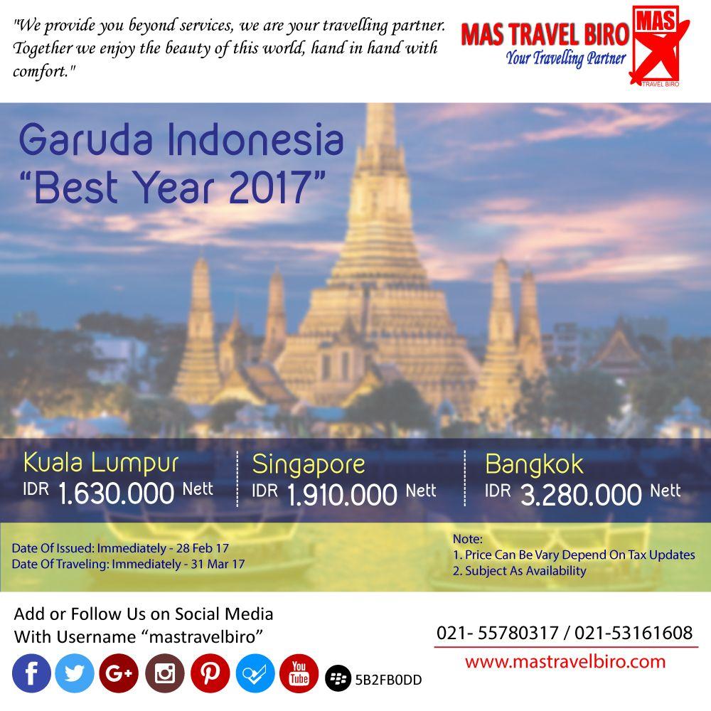 Terbang ke Bangkok Dengan Garuda Indonesia Rp 3.280.000