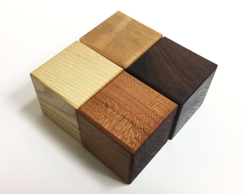2 Square Wood Blocks Gradient Neutrals Ombre 2 X 2 Each Montessori Waldorf Set Of 4 8 Or 12 Free Us Shipping Wood Blocks Neutral Pure Oils
