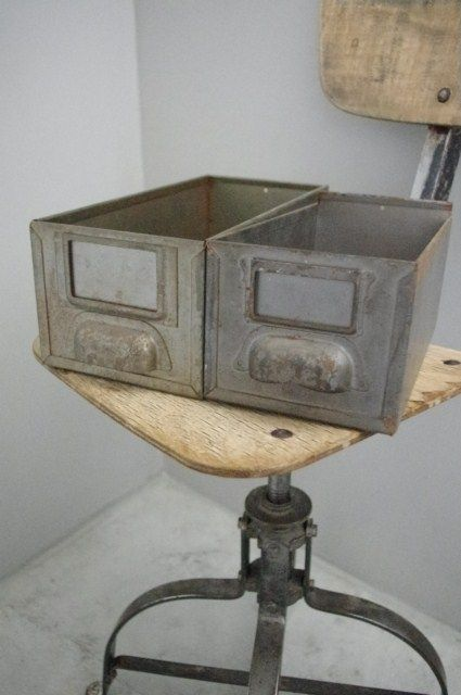 Image Of Tiroir Industriel Metallique Panier Metal Industriel Decoration Industrielle