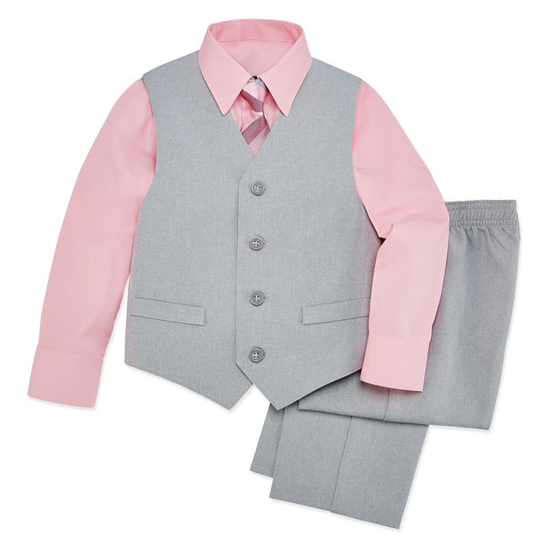 New Baby Boy Toddler Formal Party Easter Tuxedo Suit Gray size New Born to 4T