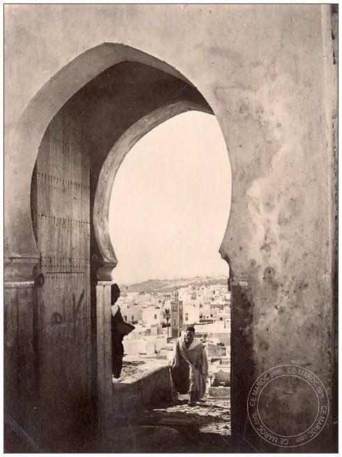 Les hauteurs de la casbah Tanger (1875)