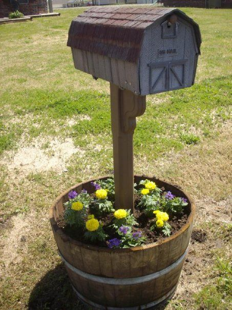 Mailbox Planter After He Finished The Mailbox Is The Old Mailbox We