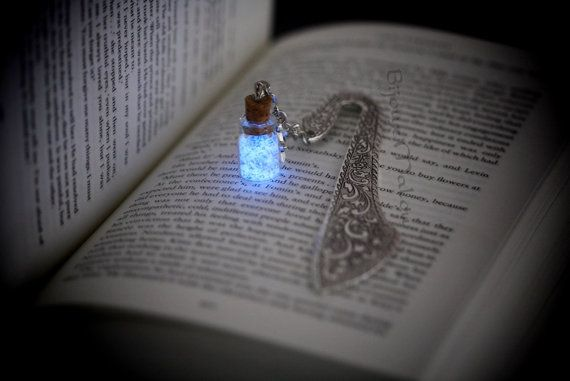 Bookmark Glow in the Dark and Glitter Bottle on by BijouxMalou