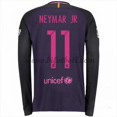26e0714f19d Billiga Fotbollströjor Barcelona 2016-17 Neymar Jr 11 Långärmad Borta  Matchtröja