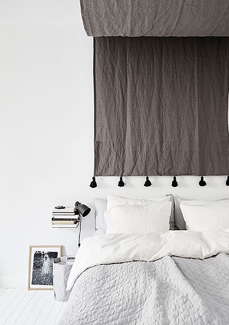 tapestry as headboard: leave slack for a canopy / wit & delight ...
