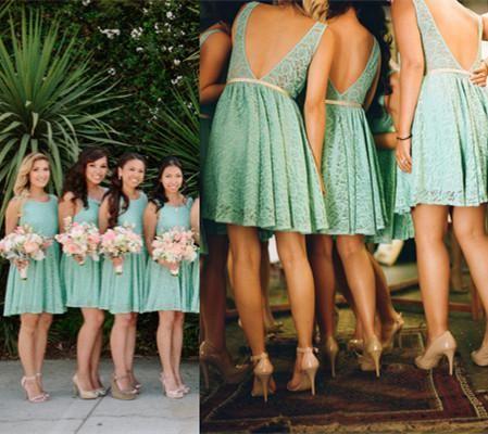Green Beach Wedding Dress